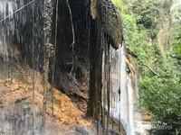Tirai pintu Goa dari air dan akar.