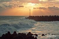 Senja dan suara gemuruh ombak Pantai Glagah