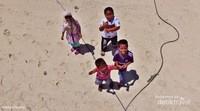 anak-anak pulau salissingan yang ceria