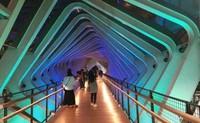 Salah satu spot menarik lain didekat GBK adalah jembatan penyeberangan orang yang instagenic
