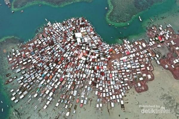 Gambaran pulu bungin dari ketinggian - foto langkahtravel