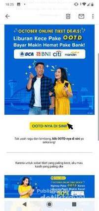 Jangan lupa subscribe Tiket.com supaya dapet notifikasi promo tiket pesawat dan hotel