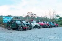 Parkiran di Batu Alien, salah satu spot Lava Tour Merapi