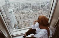 Pemandangan Dubai dari At The Top Burj Khalifa, berhasil ngebuat saya susah moveon.
