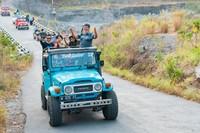 iring-iringan rombongan lava tour Merapi