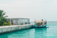 Pelabuhan yang menjadi akses keluar masuk pengunjung Club Med Finolhu