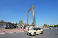 Dubai Frame yang merupakan bingkai terbesar di dunia.