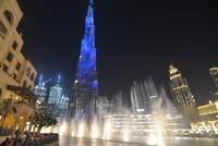 Inilah kemegahan Dubai Fountain Show.