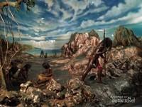 Diorama kehidupan masyarakat Indonesia di zaman megalitikum sekitar tahun 3.000 - 2.000 SM.