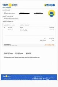 Invoice tiket.com