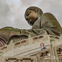 Penampakan Big Buddha dari atas