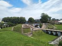 Design pertahanan fort marlborough yang ciamik.