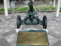 Mortir yang pernah digunakan dalam pertempuran 10 November 1945.
