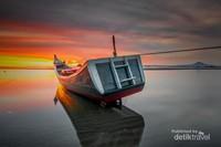 Perahu yang unik di Pantai Ujong Pancu