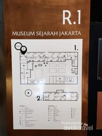 Peta Museum Fatahillah yang terdapat di dalam Gedung Museum Fatahillah