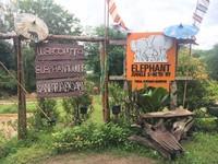 Suasana Chiang Mai Elephant Jungle Sanctuary yang asri