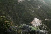Tebing yang menjulang tinggi seperti di Himalaya, kamu bisa melihat tebingnya ditaburi bunga edelweiss