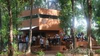 Terdapat juga cafe kekinian yang cozy di tengah kawasan hutan