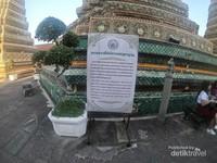 Setiap pagoda memiliki warna mosaik yang berbeda untuk membedakan masa pemerintahan dari masing-masing raja
