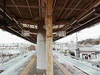 Peron tempat menunggu monorail tiba