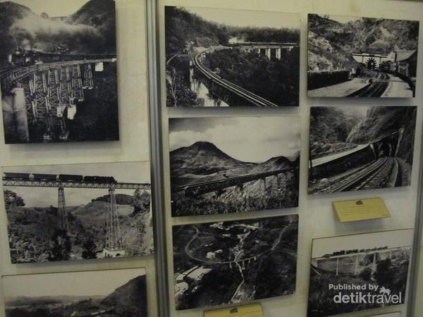 Foto jalur perlintasan kereta pada jaman dulu, dan sebagian diantaranya masih dipergunakan sampai hari ini