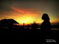 Sunset cantik di Pantai Palangpang