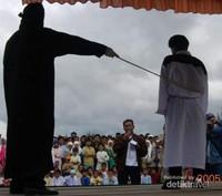 Eksekusi cambuk bagi pelanggar syariat di Gayo