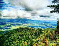 Panorama Kabupaten Bener Meriah dari Puncak Origon