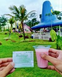 Tiket masuk Bhumi Merapi yang bisa ditukarkan dengan segelas susu sapi