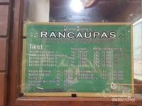Aneka macam tarif yang berlaku di Kampung Cai Ranca Upas