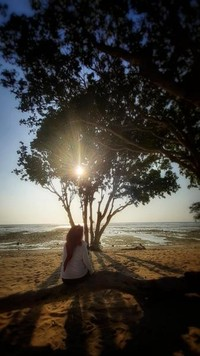 Salah satu spot untuk menikmati pantai tanpa kebisingan