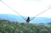 Menikmati pemandangan dari atas ketinggian