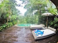 Pemandangan dari depan kamar, langsung kolam renang.