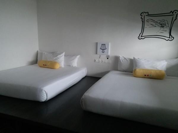 Hotel ini memiliki beberapa jenis kamar termasuk untuk empat orang