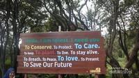 Pesan buat para pengunjung tetap jaga alam
