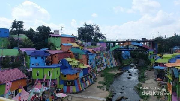 Beginilah pemandangan Kampung Tridi Jodipan.