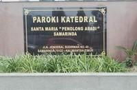 Foto tugu nama Paroki Katedral Santa Maria