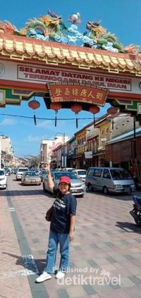 Gerbang Selamat Datang di Pecinan Kuala Terengganu Darul Iman.