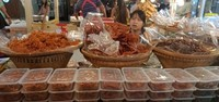 Aneka makanan dari olahan hasil laut.