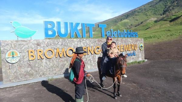 Tidak hanya di film, bukit Teletubbies juga ada di Bromo.