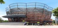 Nelum Pokuna Mahinda Rajapaksa Theatre, yang berbentuk seperti bunga teratai