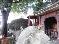 Salah satu tempat pembakaran dupa di Kuil A ma