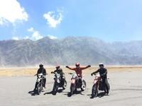 Gunung Bromo dengan motor trail tak kalah seru