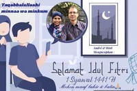 Pic Collage kartu lebaran kami untuk menyampaikan ucapan dan pesan hari raya Idul Fitri 1441 H.