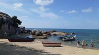 Perahu-perau nelayan di Pantai Turun Aban.