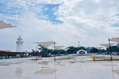 Lengangnya Masjid Agung Banten Saat Pandemi Corona