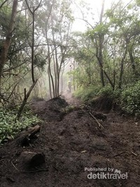 Jalur pendakian via Candi Ceto