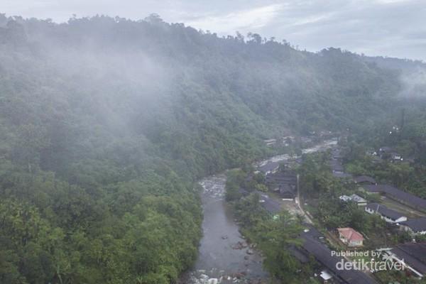 Desa Lebong Tandai dari Drone