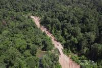 Pembukaan akses jalan Lebong Tandai dari Drone