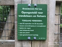 Hutan kota hanya diperbolehkan bagi para pejalan kaki dan pesepeda.